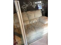 Clear detailed shower screen new condition