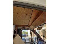 Fiat Ducato cab roof interior