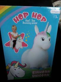 Bouncing unicorn