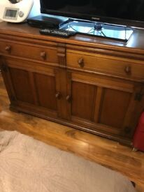 A real wood tv stand