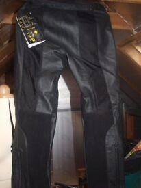 Ladies Spidi leather and Kevlar Bike Trousers.