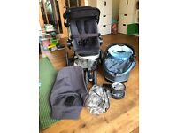 Quinny Buzz push chair, baby carry cot and accessories
