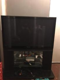 Panasonic flat screen built in free view and stand