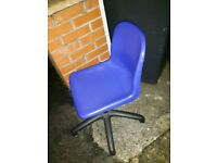 free great condition plastic blue swivel desk chair