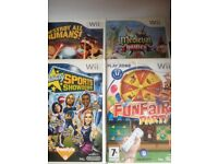 Four Wii games