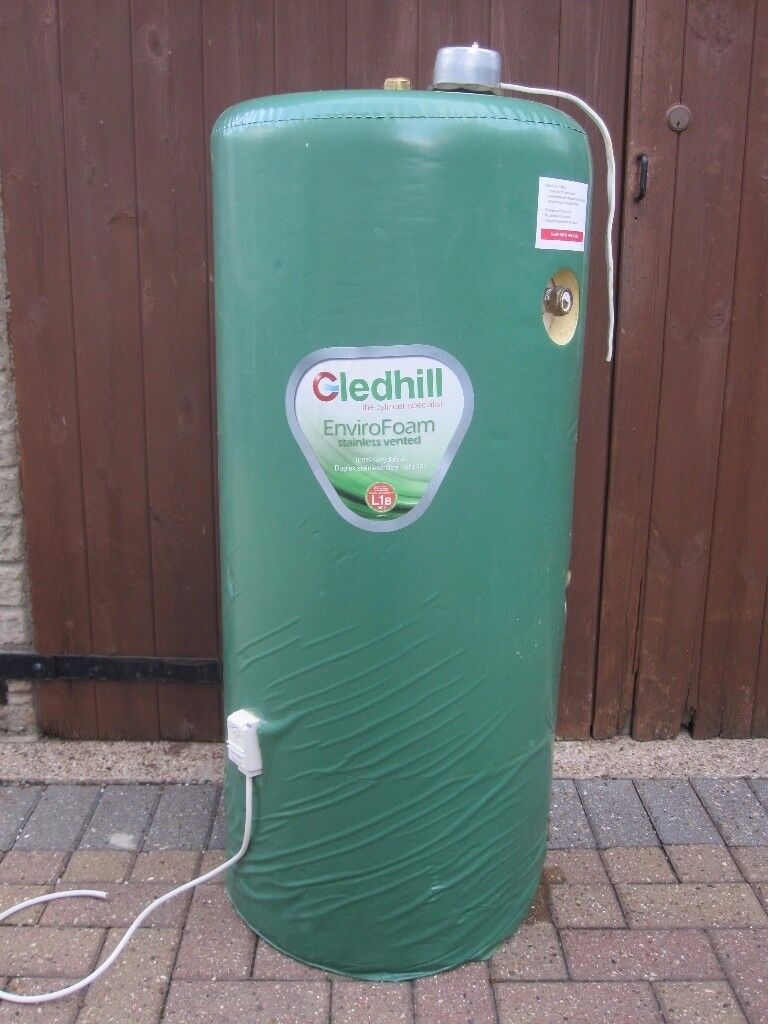 Gledhill stainless steel indirect hot water cylinder with immersion ...