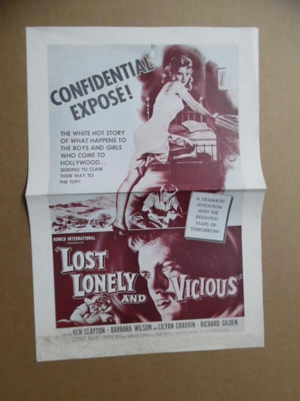 1958 LOST LONELY AND VICIOUS Z-Movie Press Book Campaign Manual HOWCO James Dean