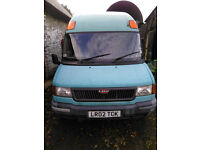 LDV Convoy LWB minibus Camper conversion: sink, cooker, bed, table, 8 seats. Good condition. MOT