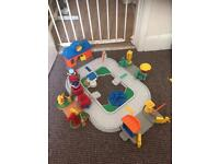 Fisher price little people station with accessories