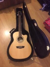 Washburn Electro Acoustic Guitar With Hard Case!!!