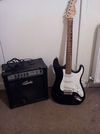 Almost not used electric guitar and AMP for sale!