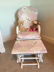 Glider Rocking Chair + Foot stool / nursery / rocker / baby furniture