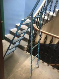 Heavy duty metal step ladder