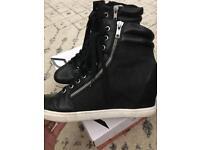 DKNY heeled trainers