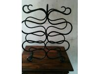 VINTAGE WROUGHT IRON WINE RACK/SPANISH REVIVAL STYLE