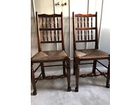 Pair Spindleback Dining Chairs