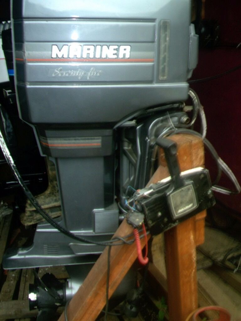 OUTBOARD MOTOR MARINER 75 HP OIL INJECTION PTT