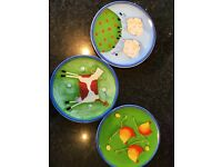 Set of three wall plates 7inch
