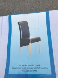 PU MADRID DINING CHAIR BRAND NEW