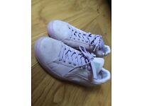 Women's lilac puma suede trainers size 6