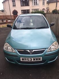 Vauxhall Corsa, 11 months mot. 1.2, 5 door. Spares or repairs