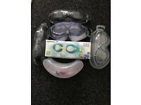 Job Lot of 6x swimming goggles (Olympic Nation, Aqua Sphere, Cressi, Swimtastic, Speedo)
