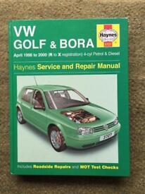 Haynes manual VW Golf.