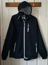 Men's 'Fabric' Navy Blue Windcheater, zip-up lightweight jacket size XL