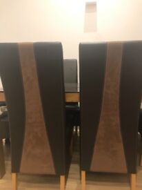 6 full back dining chairs