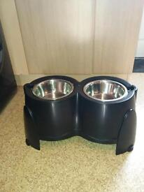 2 large dog bowls for sale