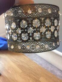 Metal patterned lampshade