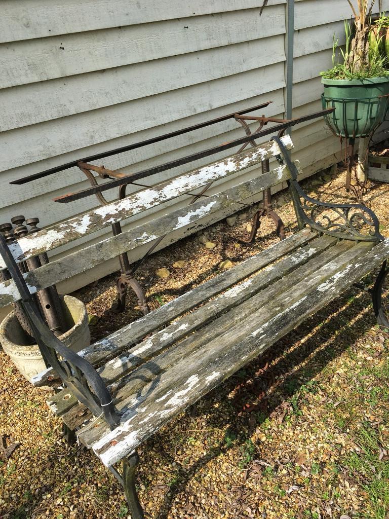 Garden benches need TLC