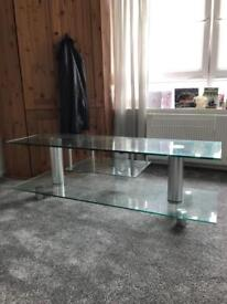 Glass/Chrome TV Unit/Stand £25 ono