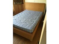 wicker double bed with or without firm mattress