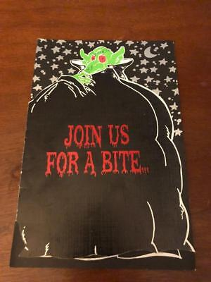 Menu Halloween Dinner Party (Halloween Dinner Party- October 28th, 1995-Sands Hotel and Casino- Atlantic)