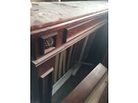 Mahogany wooden fireplace with Mirror