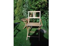 RETRO VINTAGE FOLDING BEECH WOOD CHAIRS PERFECT FOR retro camper