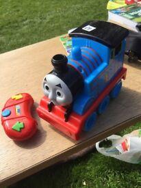Train, jumperoo, pram, V Tech toys, teddy