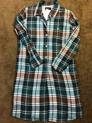 A.P.C. WOMEN'S BROWN/GREEN/BLUE PLAID DRESS SMALL
