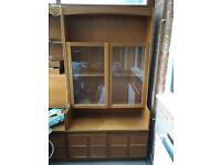 Glass & wood cabinet