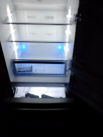 Beko CFMD7852X S/Steel Frost Free Fridge Freezer with water dispenser & temperature display.