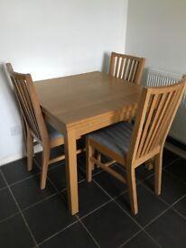 Dining Table - Extendable Oak Veneer -Ikea Bjursta