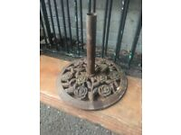 Rose & Petal Design Cast Iron Parasol Base W-R