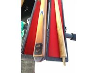 RLE 2 pieces 148cm Snooker/Pool cue with hard case