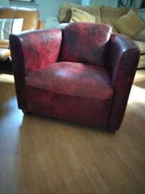 Real Leather Aviatore rocket chair armchair Del Poss