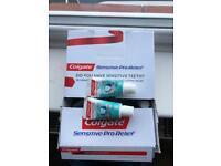 Box of Colgate toothpaste