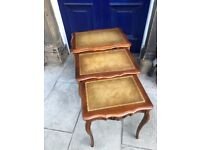Nest of 3 tables - in good conditon. Size - top table- W 61cm D 45cm H 59cm