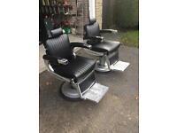 2 Belmont Apollo barbers chairs