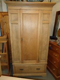 Antique pine wardrobe 1920s