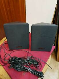 Toshiba speakers with long cables